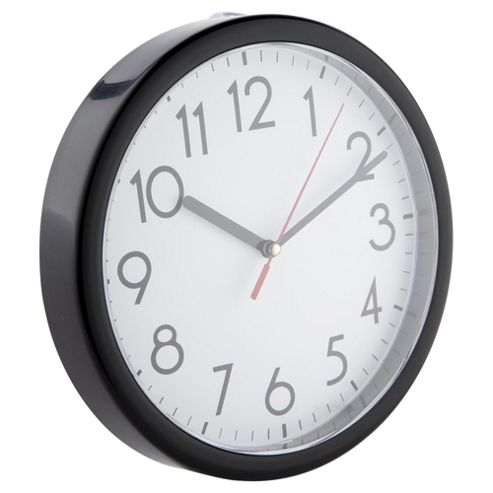 Characters Wall Clock Tesco Basics Wall Clock Black