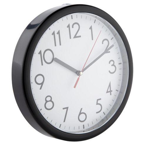 Tesco Basics Wall Clock, Black