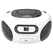Lava CD Boombox w/ FM/AM Radio and Aux In, Charcoal
