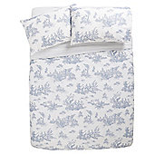Tesco Toile Print Duvet Cover And Pillowcase Set, Double