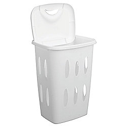 Tesco Basics White 45L Laundry Basket
