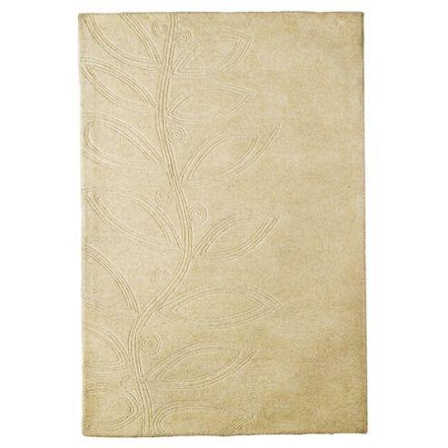 Tesco Rugs Leaf Wool Rug, Cream 150x240cm