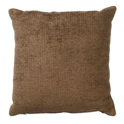 Tesco Plain Chenille Cushion, Mocha