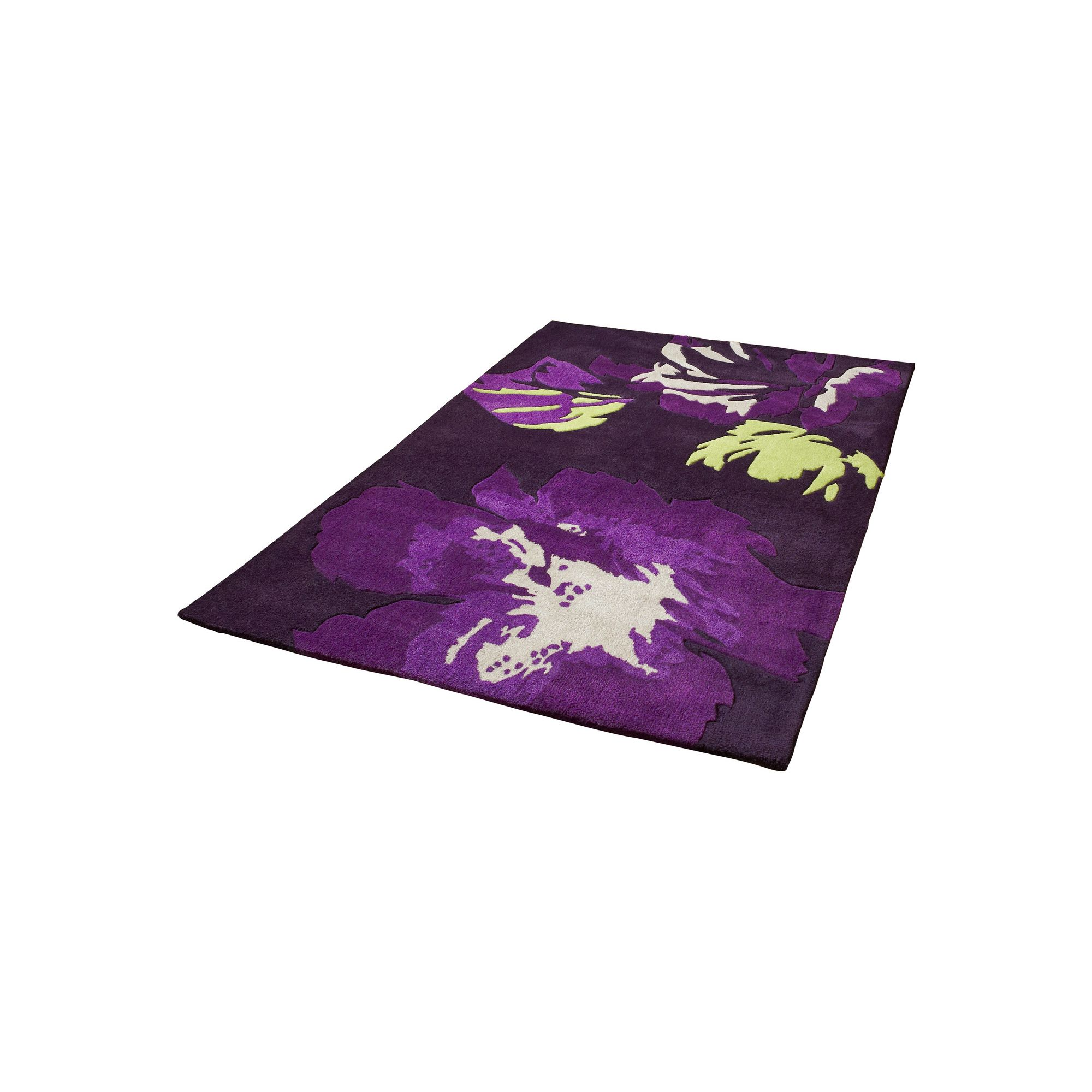 Oriental Carpets & Rugs Hong Kong 2827 Purple/Green Rug - 120cm x 170cm