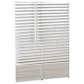Wood Venetian Blind, 25mm Slats, Chalk 180cm
