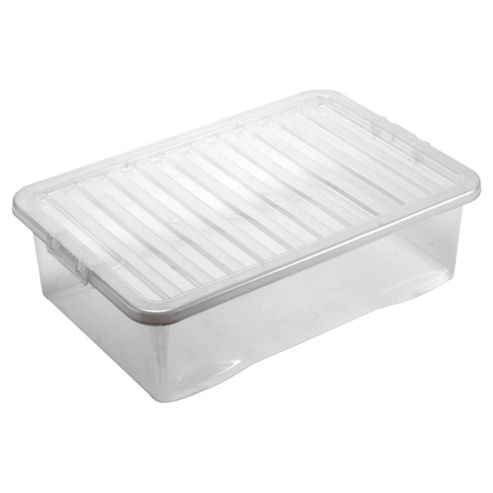 buy wham crystal 32l underbed storage box with lid from. Black Bedroom Furniture Sets. Home Design Ideas
