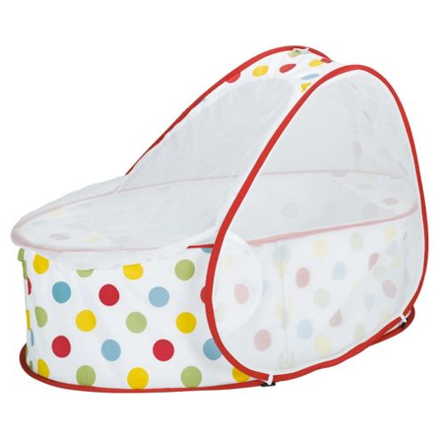 Koo-di Pop Up Travel Cot & Bassinette, Polka Dot