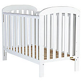 East Coast Anna Finish Drop Side Cot, Pure White