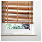 Wood Venetian Blind, 25mm Slats, Chalk 120cm