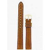 Hirsch Camelgrain Ladies Honey Brown Leather Watch Strap 01009110-1-13