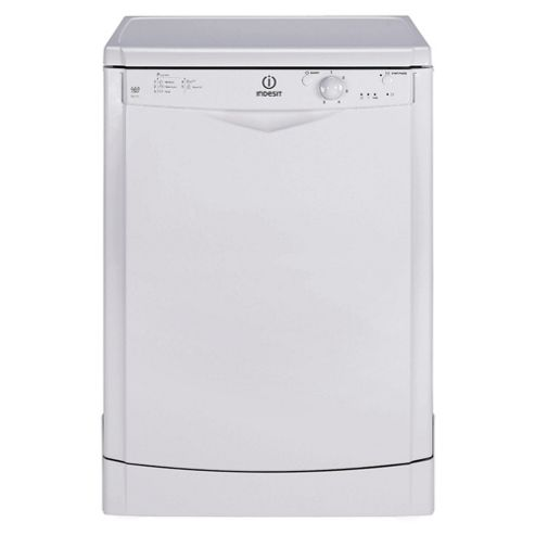 Indesit IDF125W Full Size Dishwasher, A Energy Rating. White