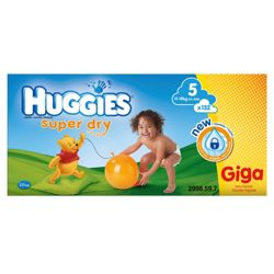 Huggies Super Dry GIGA Pack Size 5 132