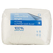 Tesco Standard Cotton Cover Single Duvet 4.5 Tog