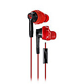 Yurbuds Inspire 300 Sweat-proof In-Ear Sport Earphones, Red & Black