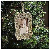 Gold Glitter Photo Frame Christmas Tree Decoration