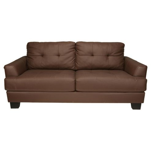 Utah Leather Sofa Large, Brown