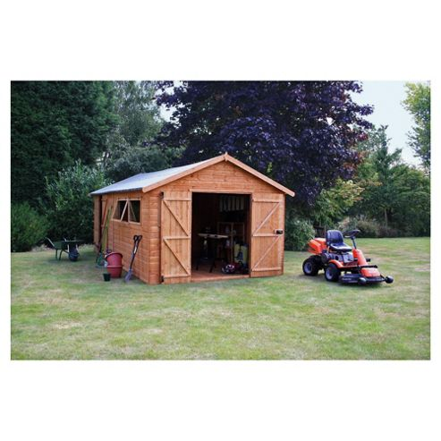Buy mercia shiplap workshop from our garden sheds range for Garden shed tesco