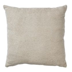 F&F Home Plain Chenille Cushion, Stone