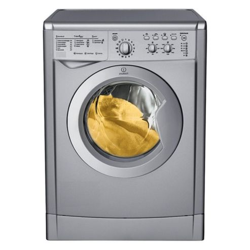 Indesit IWC6125S Washing Machine, 6kg Wash Load, 1200 RPM Spin, A Energy Rating. Silver