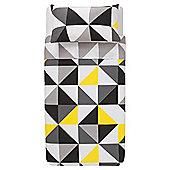 Tesco Geometric Triangles Duvet Set Single