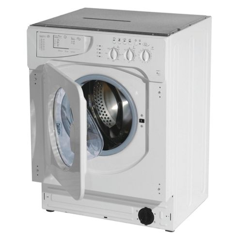 Indesit IWME126UK Integrated Washing Machine, 6kg Wash Load, 1200 RPM Spin, A+ Energy Rating. White