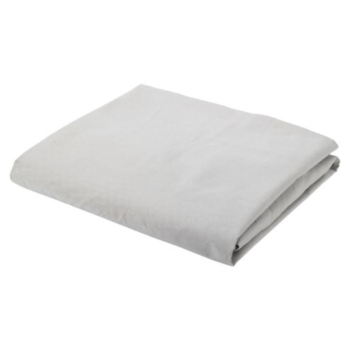 Tesco Single Fitted Sheet Light Steel