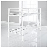 Mika Twin Bunk Bed Frame, Vanilla.
