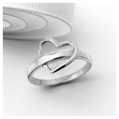 Sterling Silver Heart Ring, Large