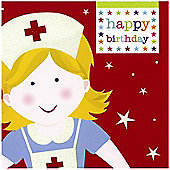 Smiley Nurse Birthday Card