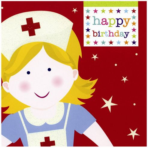 Smiley Nurse Birthday Card
