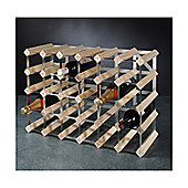 George Wilkinson 30 Bottle Wine rack Kit - Pine / Galvanised Steel