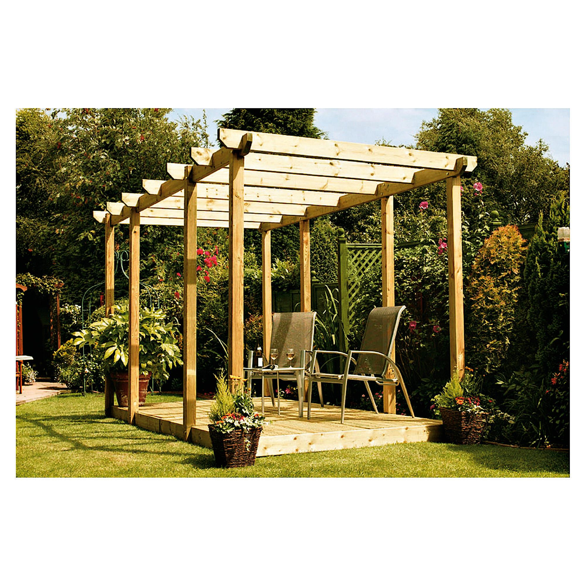 Finnlife Double Deck with Double Pergola at Tesco Direct