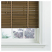 Wood Venetian Blind W180 x Drop 160cm, 35mm Slats, Oak Effect