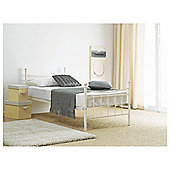 Lincoln Single Bed Frame, Cream