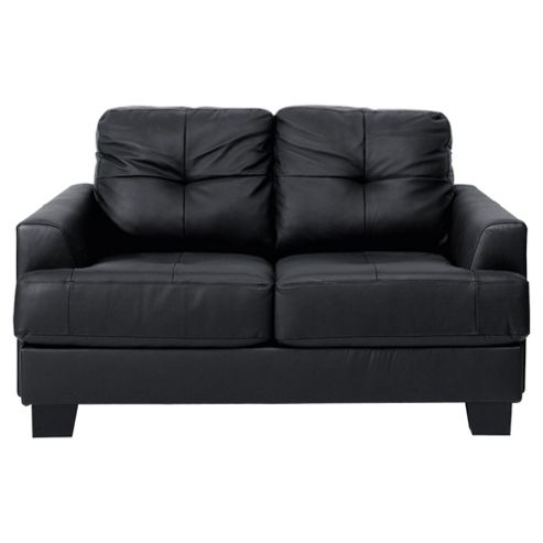 Utah Small Leather Sofa, Black