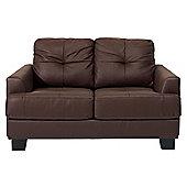 Utah Small Leather Sofa, Brown