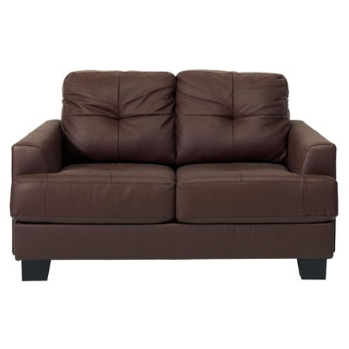 Utah Leather Small 2 seater  Sofa, Brown