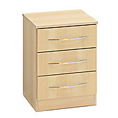 Ideal Furniture Alaska 3 Drawer Bedside Table