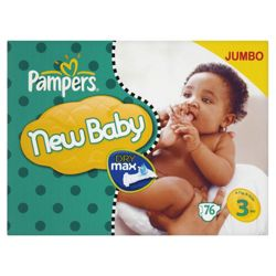 Pampers New Baby Jumbo Pack Midi 76