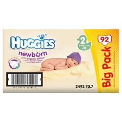 Huggies Newborn Size 2 Value Box 88 Nappies