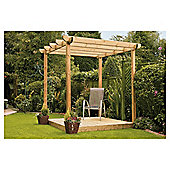 Finnlife Single Deck with Pergola