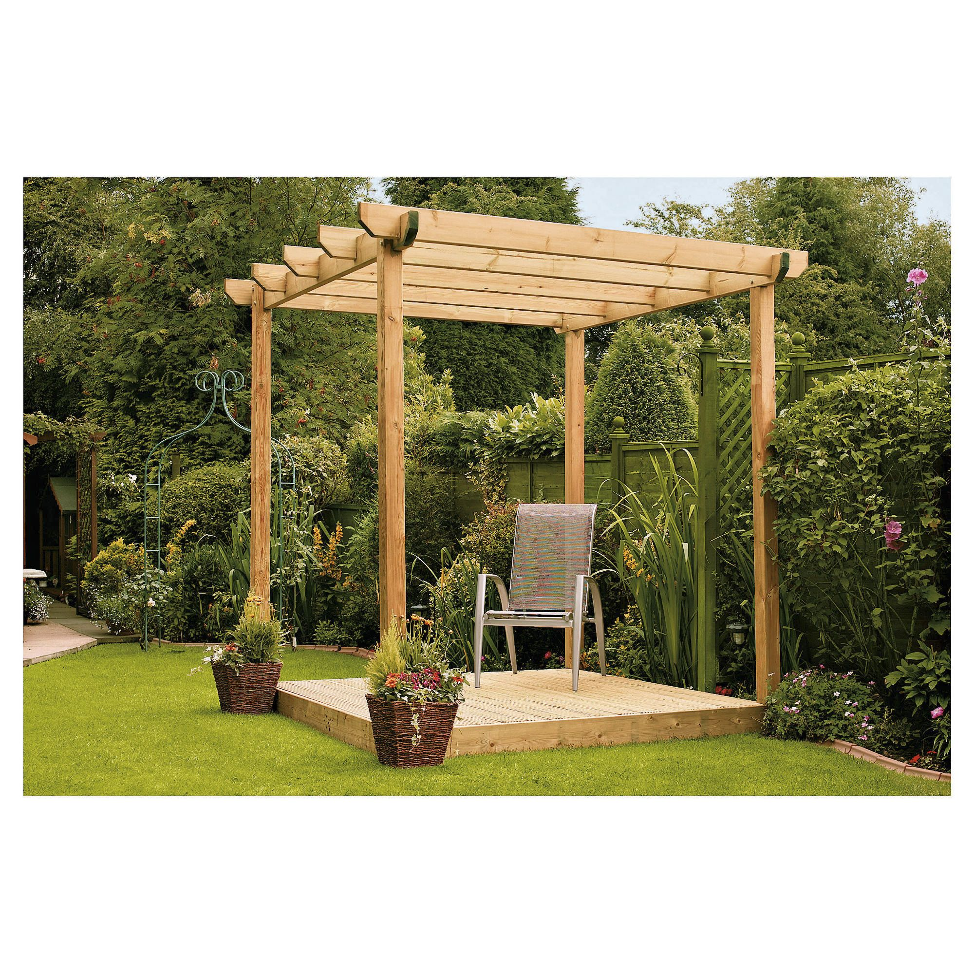 Finnlife Single Deck with Pergola at Tesco Direct