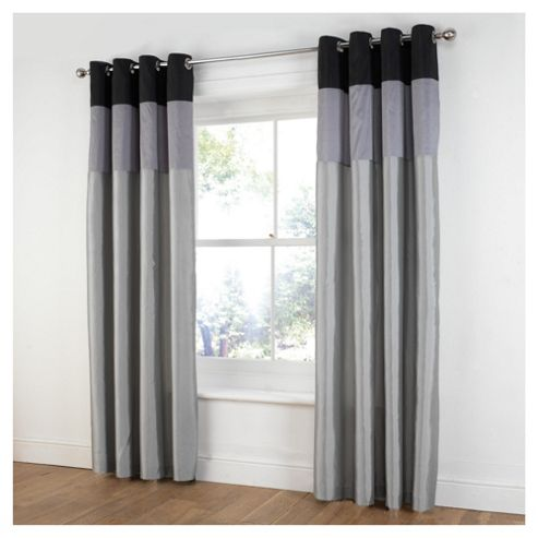 Tesco Treble Taffetta Lined Eyelet Curtains W163xL183cm (64x72