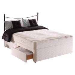 Sealy Posturepedic Silver Dream King 4 Drawer Divan Bed