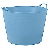 42L Plastic Flexi Tub, Blue