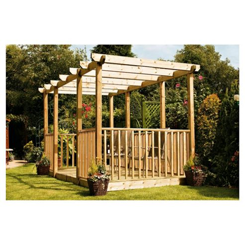 Finnlife Double Deck with Double Pergola & Balustrade