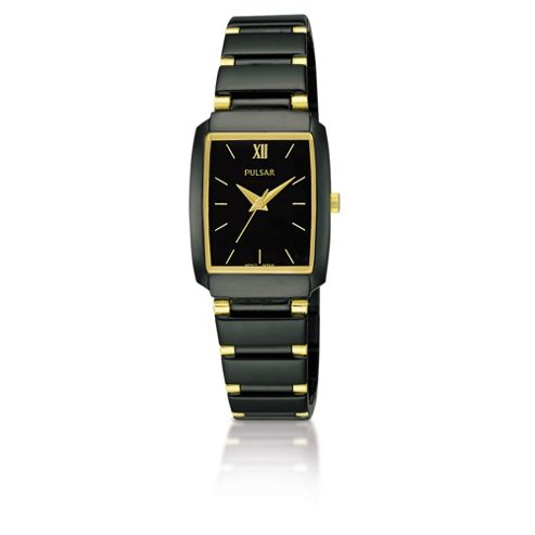 Pulsar Ladies Black Ion-Plated Dress Watch