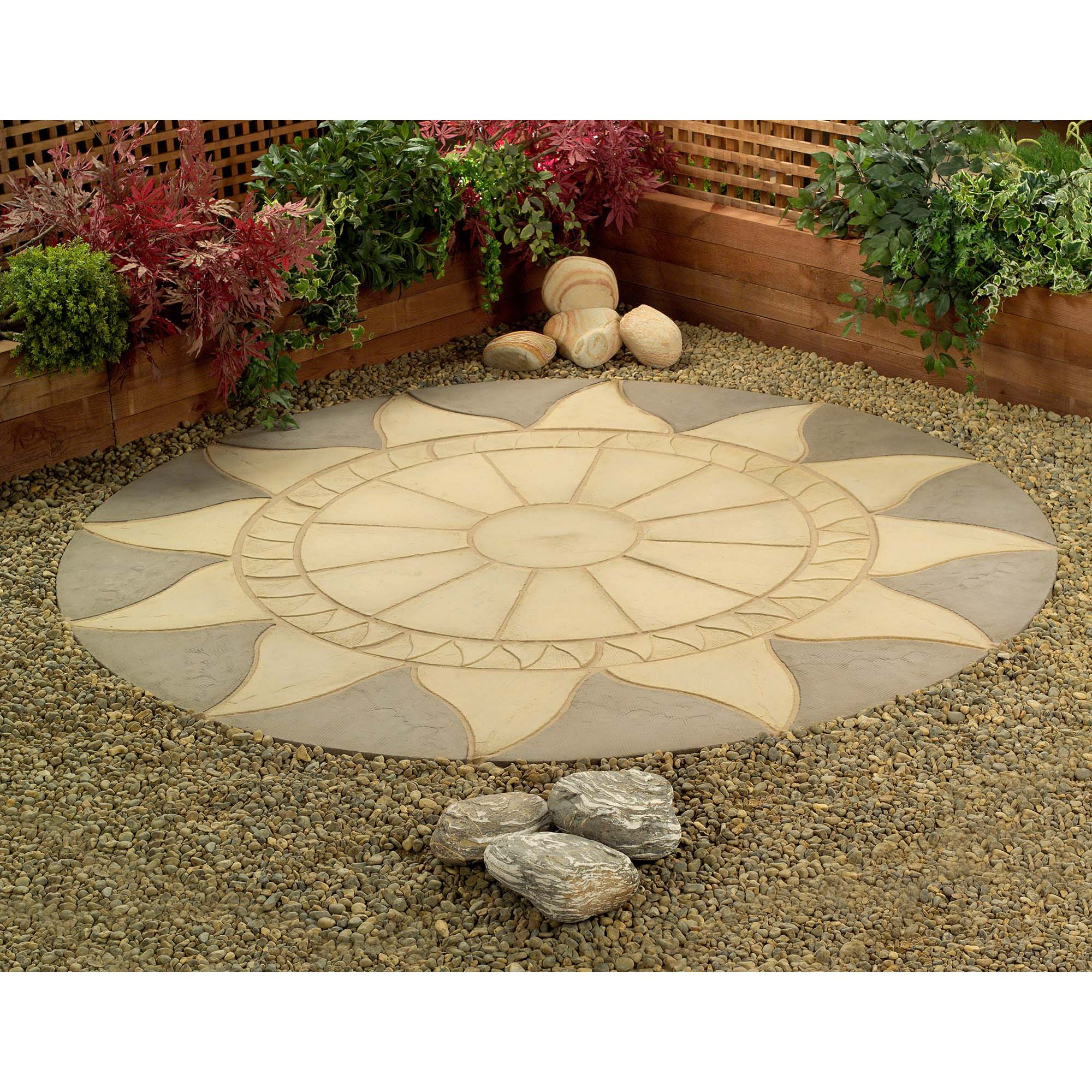 Sunstone Circle Patio Kit 2.56m Diameter at Tesco Direct