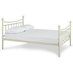 Lincoln Double Bed Frame, Cream