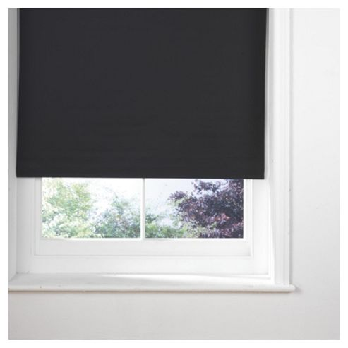 Thermal Blackout Blind, Black 90Cm